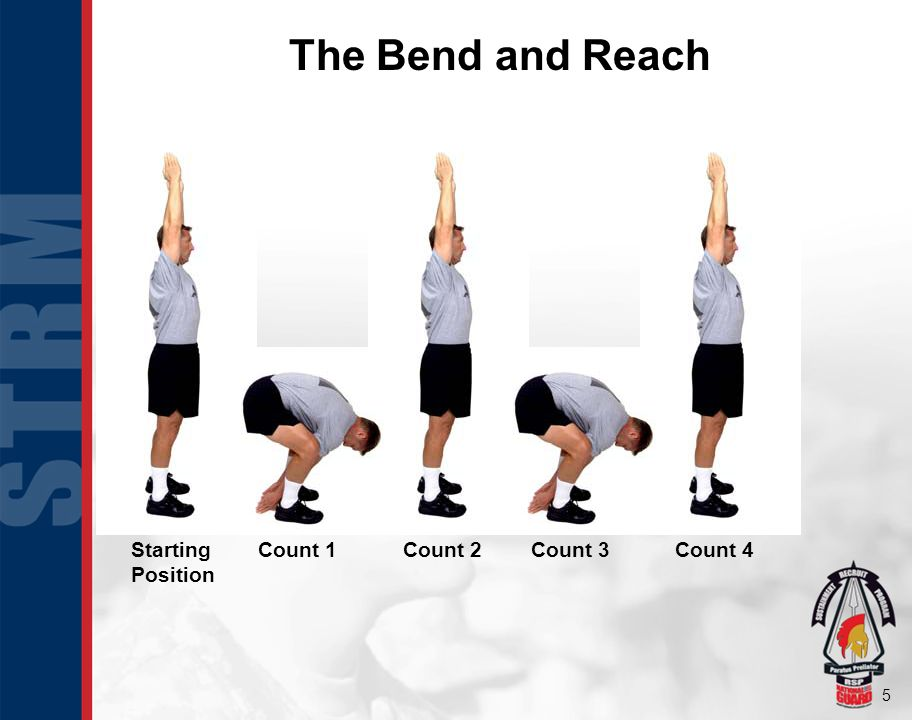 6 The Rear Lunge Starting Position Count 1Count 2Count 3Count 4