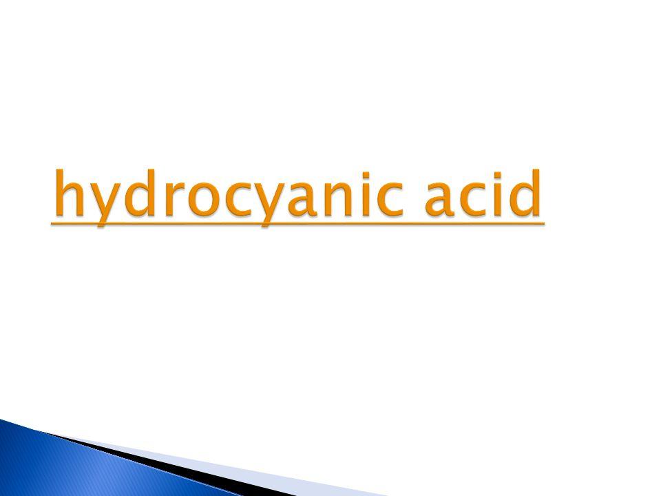hydrocyanic acid hydrocyanic acid