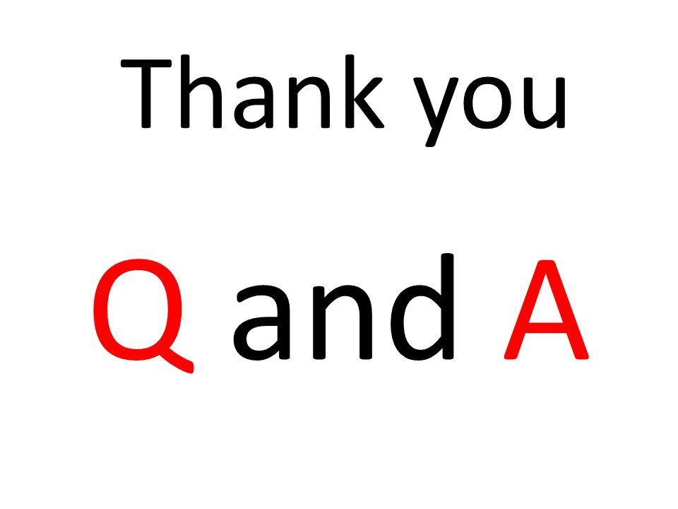 Q and A Thank you