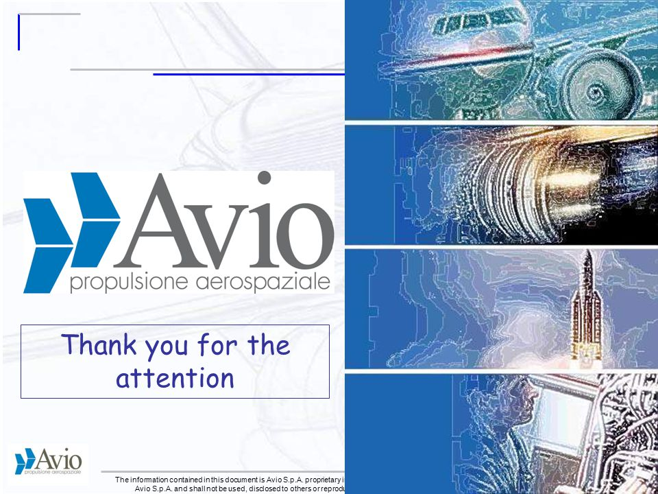 The information contained in this document is Avio S.p.A.