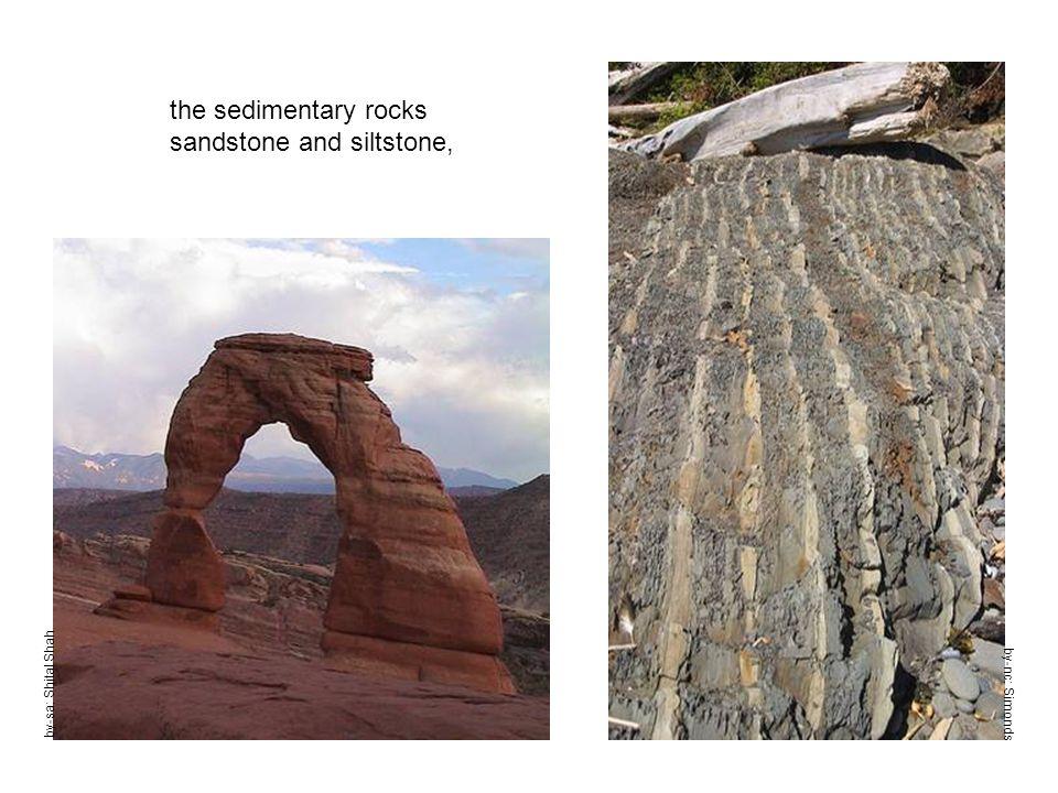 by-sa: Shital Shah the sedimentary rocks sandstone and siltstone, by-nc: Simonds