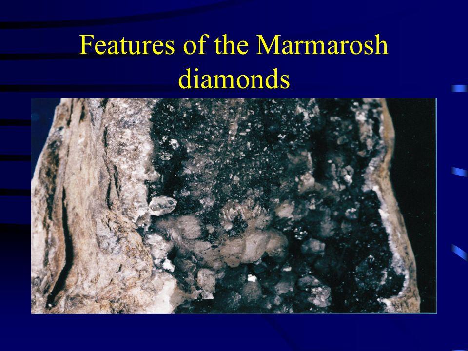 Features of the Marmarosh diamonds