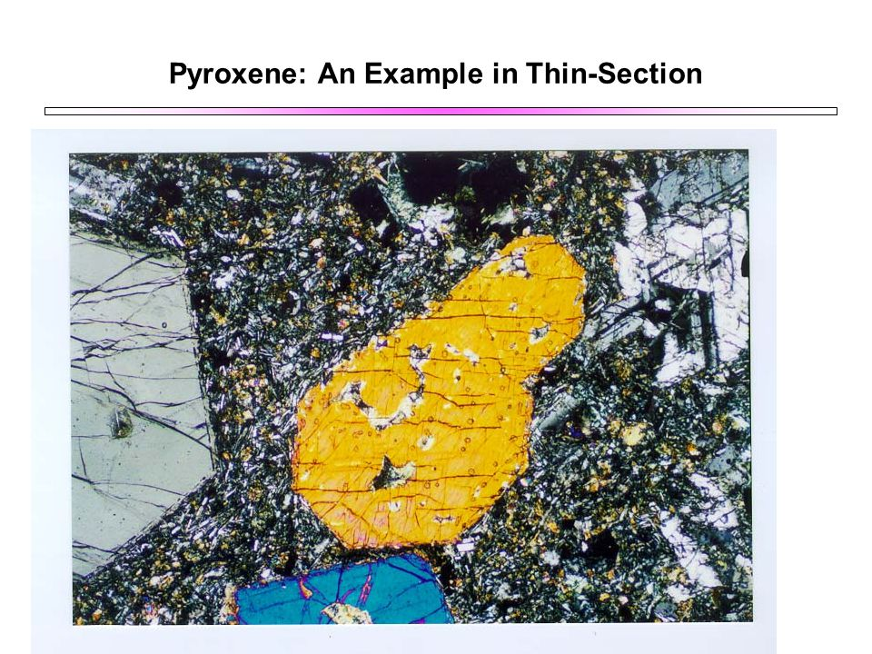 Pyroxene: An Example in Thin-Section