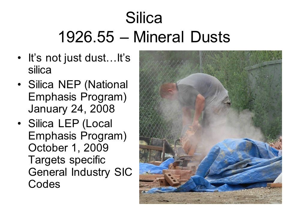 What is silica.