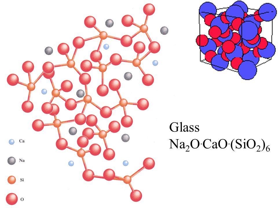 Glass Na 2 O. CaO. (SiO 2 ) 6