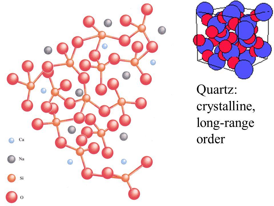 Quartz: crystalline, long-range order