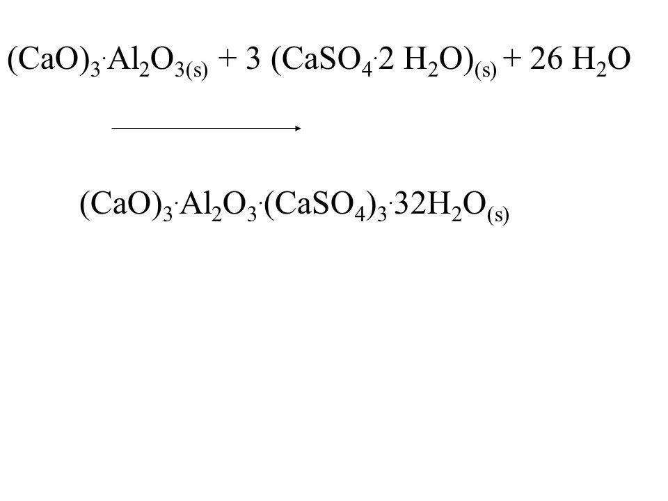(CaO) 3. Al 2 O 3(s) + 3 (CaSO 4. 2 H 2 O) (s) + 26 H 2 O (CaO) 3.