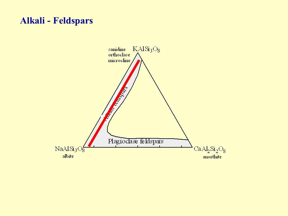 Alkali - Feldspars Alkali feldspars