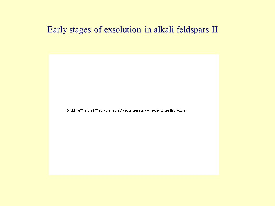 Early stages of exsolution in alkali feldspars II