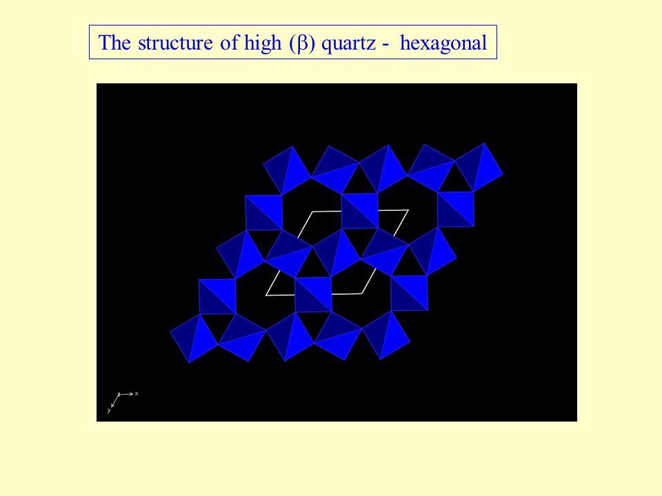 The structure of high (  ) quartz - hexagonal