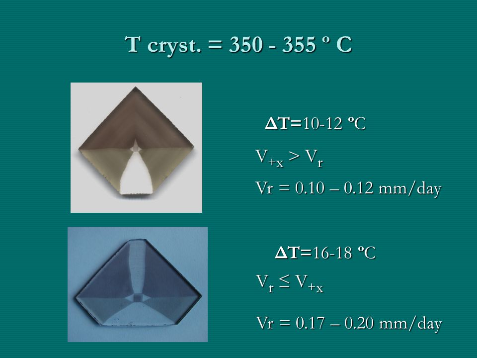 Т cryst. = 350 - 355 ºС Т cryst.