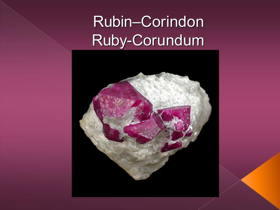Rubin–CorindonRuby-Corundum