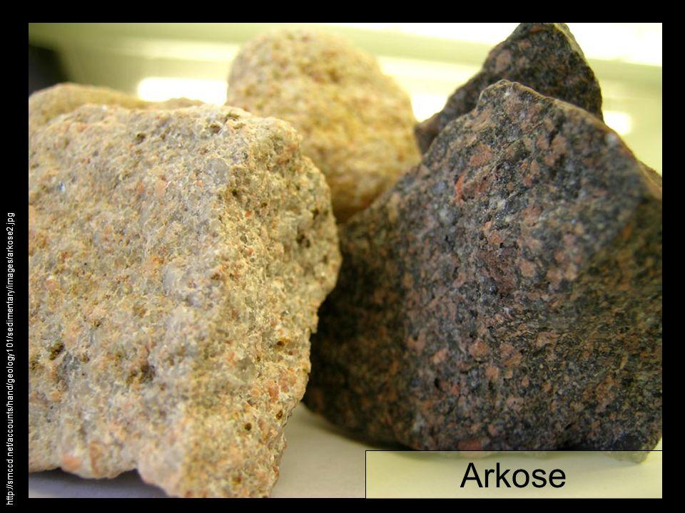 Arkose http://smccd.net/accounts/hand/geology101/sedimentary/images/arkose2.jpg