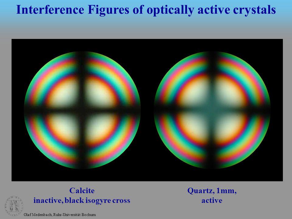 Olaf Medenbach, Ruhr-Universität Bochum Quartz, 1mm Quartz, 4mm Interference Figures of optically active crystals
