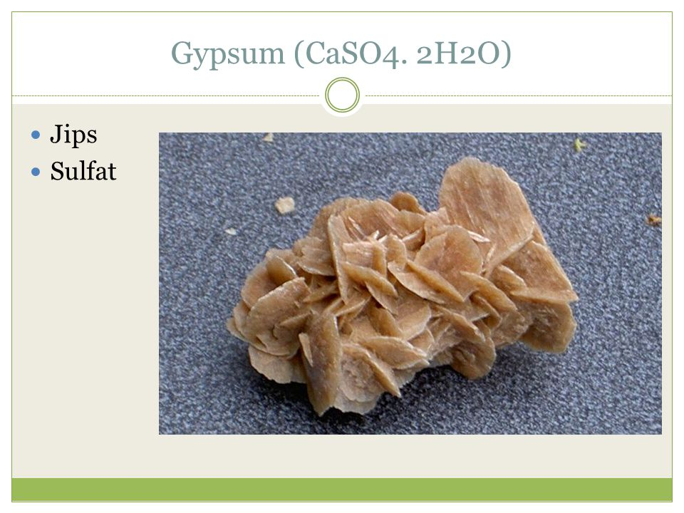 Gypsum (CaSO4. 2H2O) Jips Sulfat