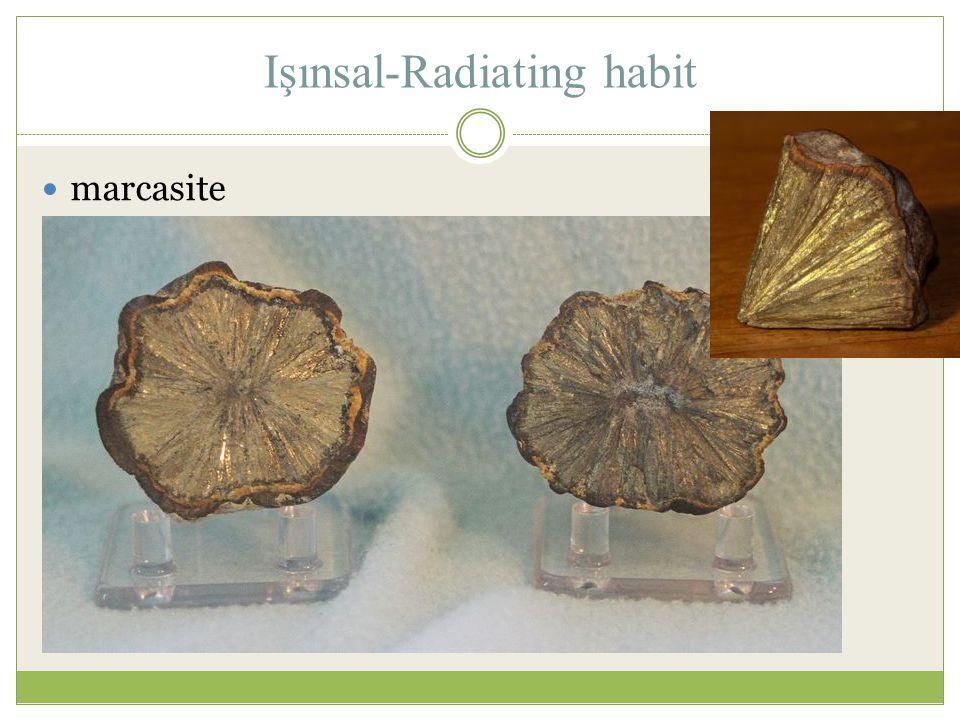 Işınsal-Radiating habit marcasite