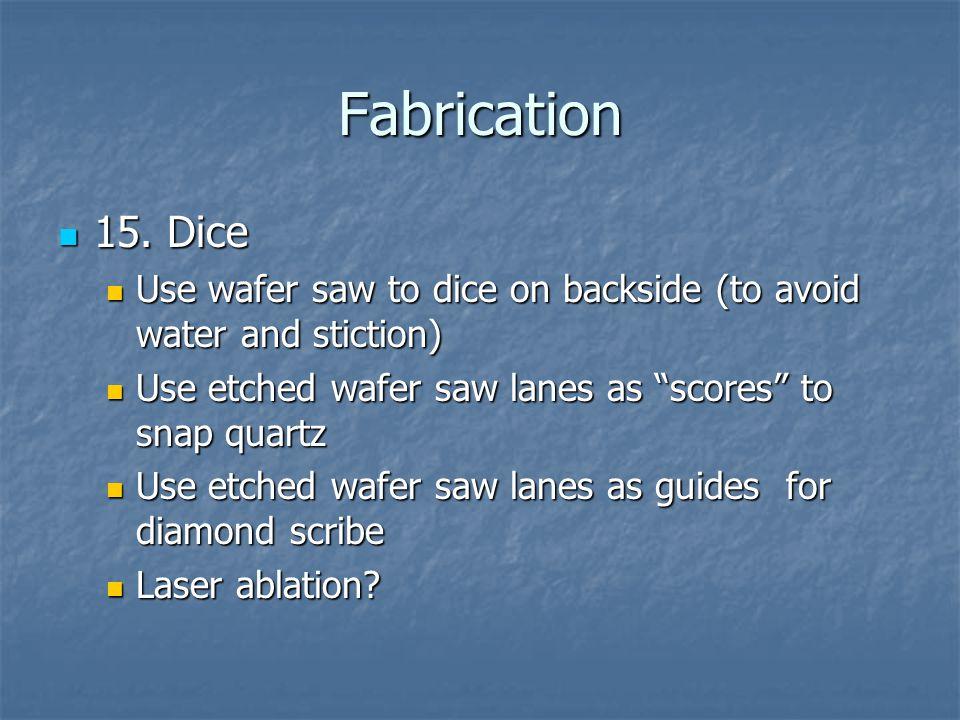 Fabrication 15.Dice 15.