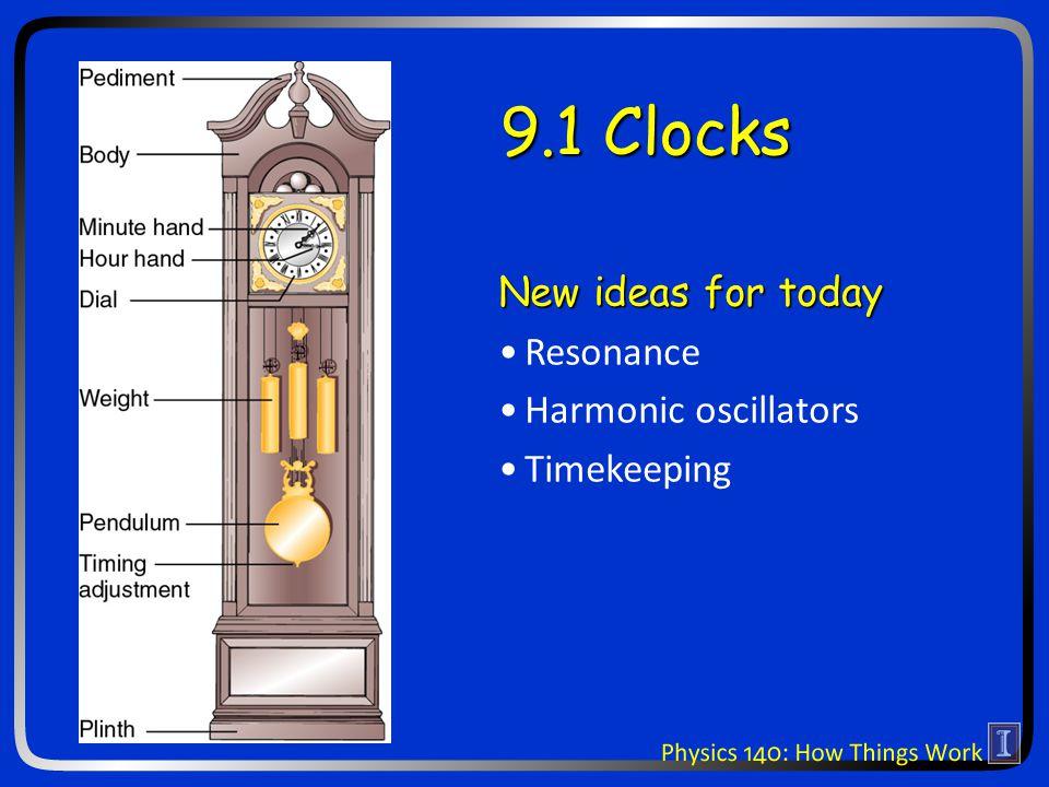 9.1 Clocks New ideas for today Resonance Harmonic oscillators Timekeeping