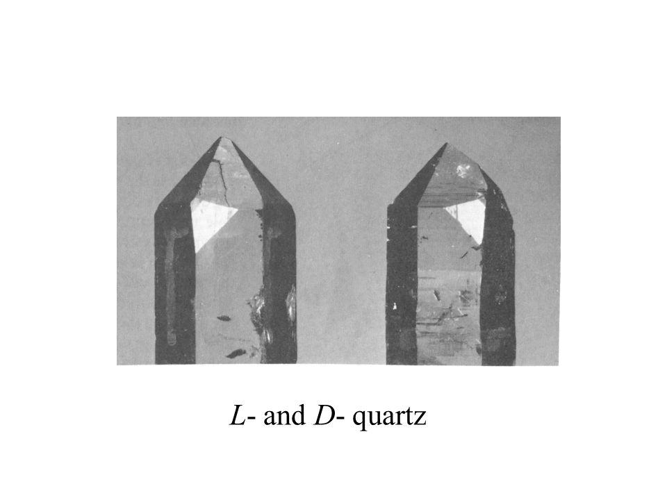 L- and D- quartz