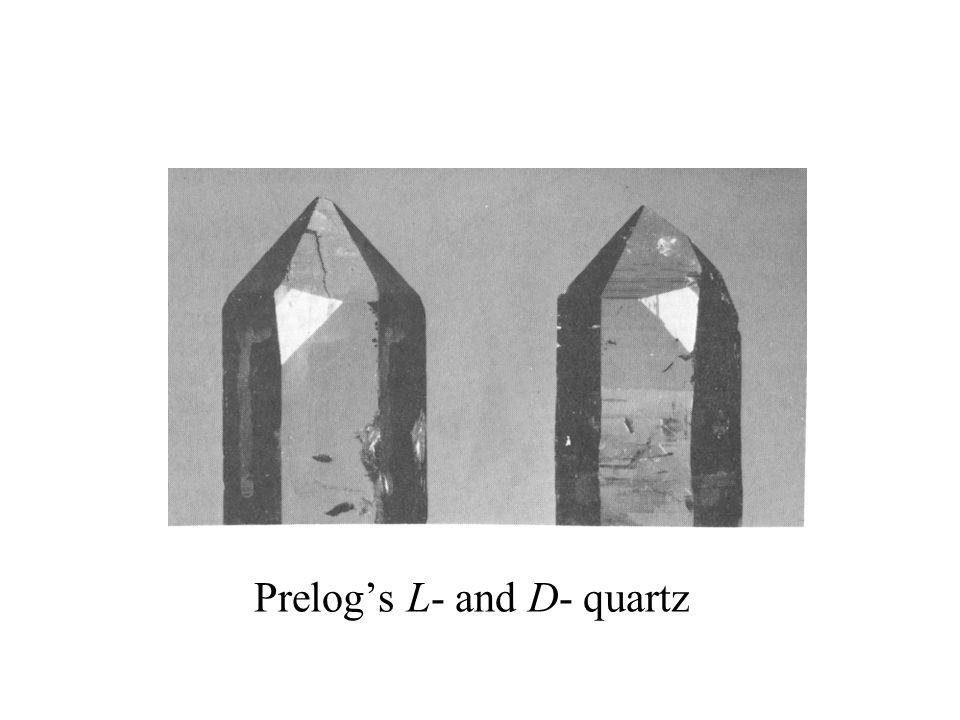 Prelog's L- and D- quartz