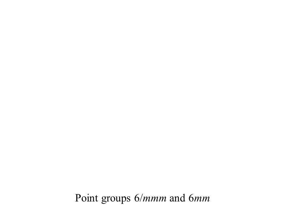 Point groups 6/mmm and 6mm