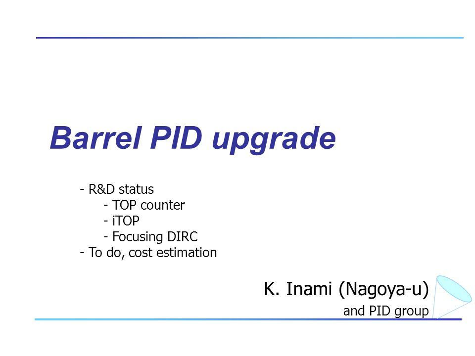 Barrel PID upgrade K.