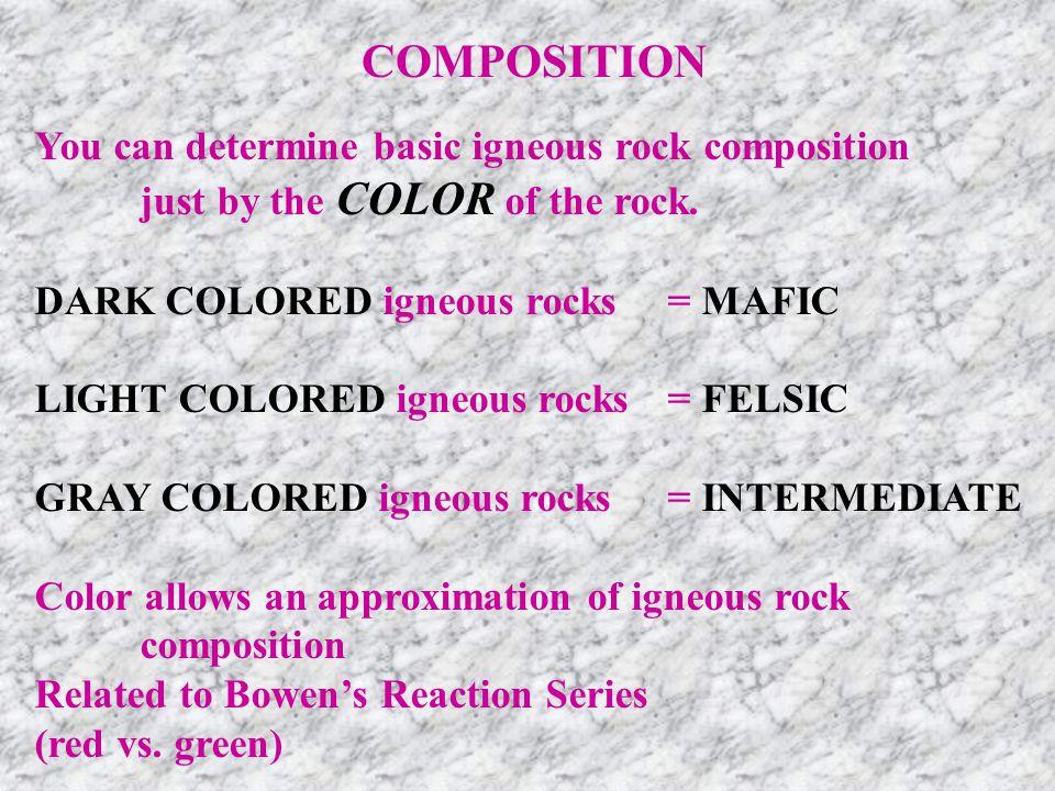Granite-Rhyolite Diorite-Andesite Gabbro-Basalt 1200°C 600°C 900°C