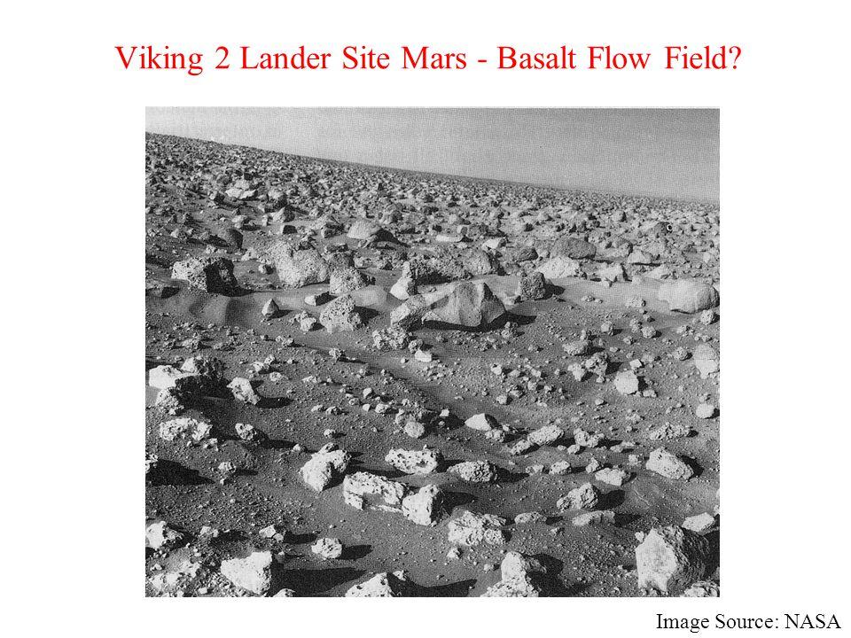 Viking 2 Lander Site Mars - Basalt Flow Field? Image Source: NASA