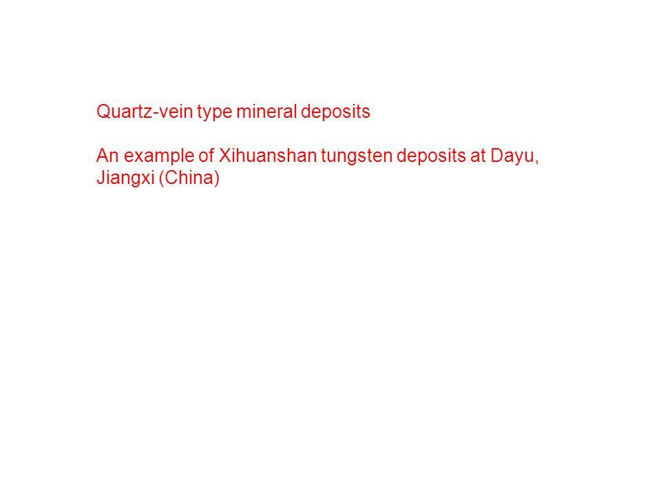 Quartz-vein type mineral deposits An example of Xihuanshan tungsten deposits at Dayu, Jiangxi (China)