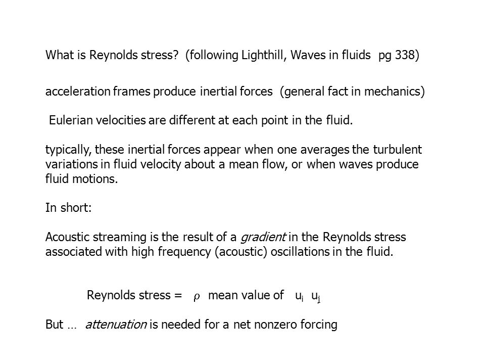 What is Reynolds stress.