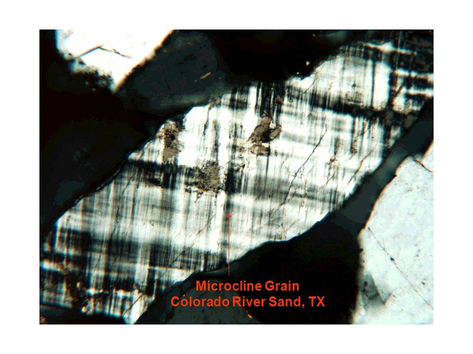 Microcline Grain Colorado River Sand, TX