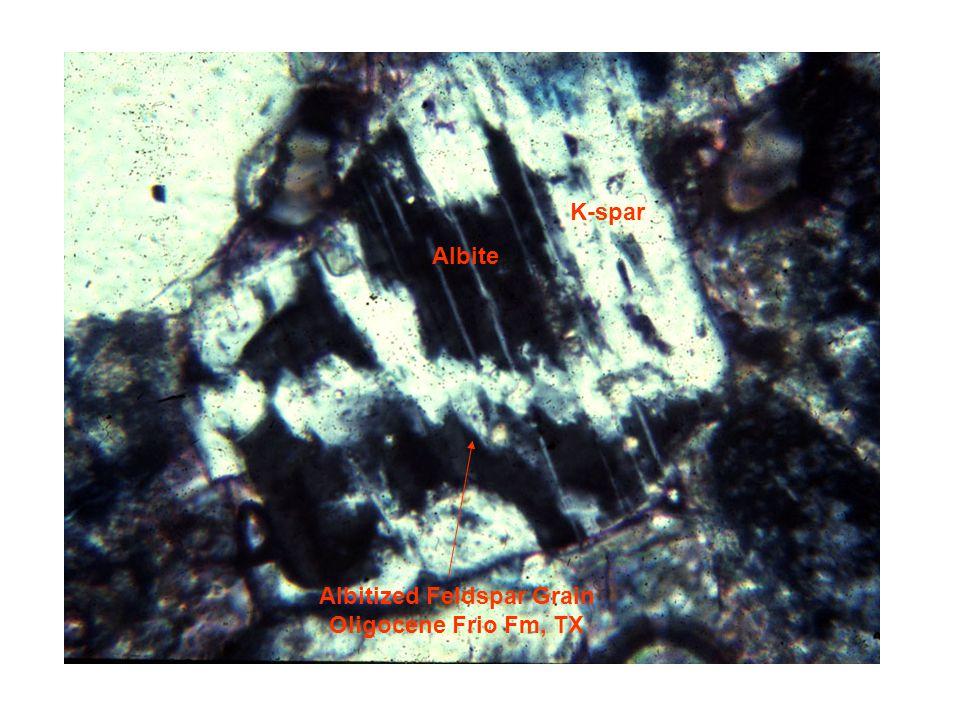 Albitized Feldspar Grain Oligocene Frio Fm, TX Albite K-spar