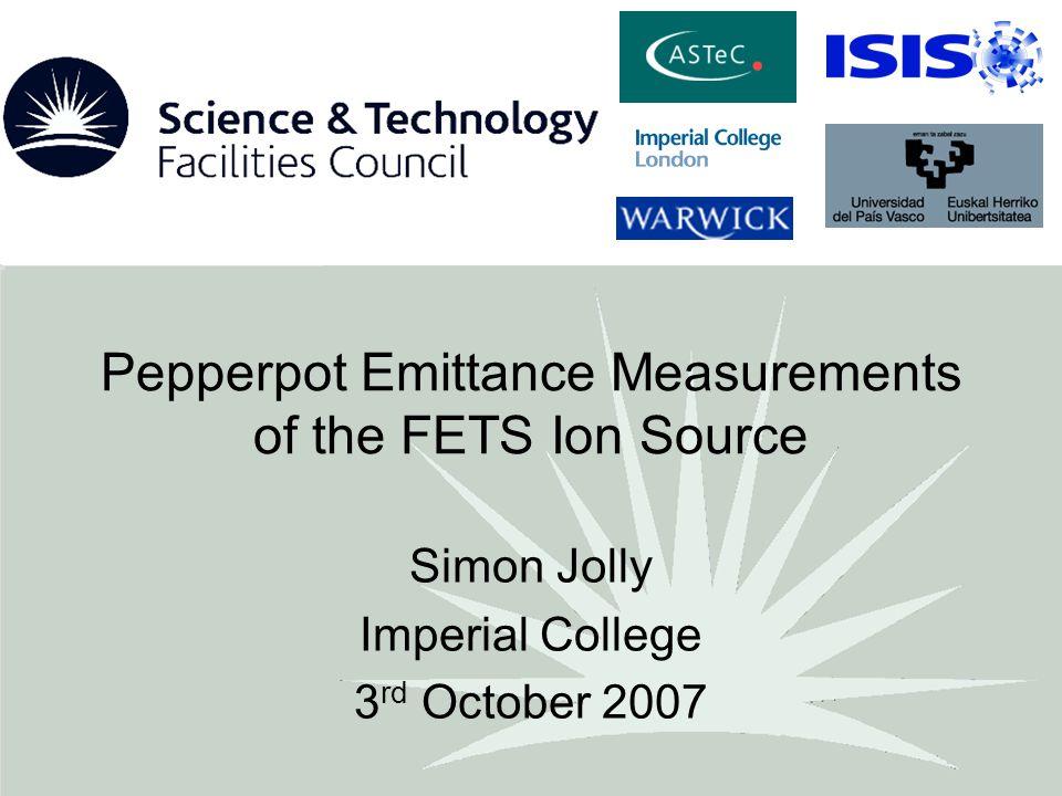 3/10/07Simon Jolly, Imperial College12 Pepperpot/Profile Comparison