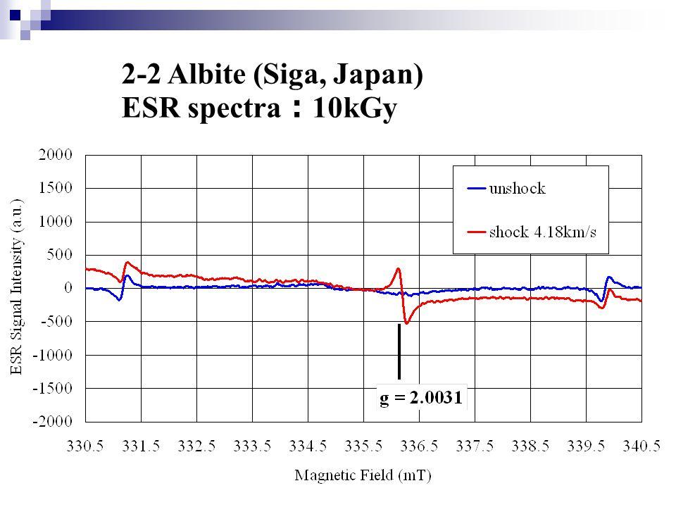 2-2 Albite (Siga, Japan) ESR spectra : 10kGy