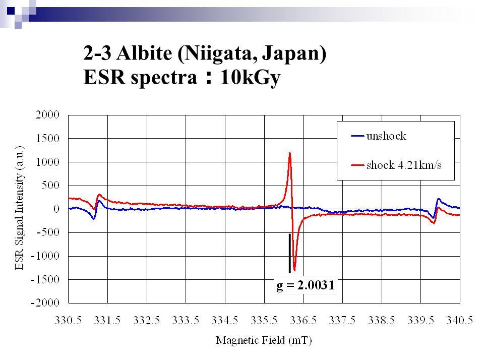 2-3 Albite (Niigata, Japan) ESR spectra : 10kGy