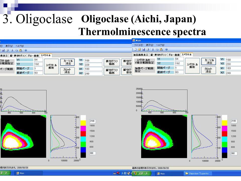 00 3. Oligoclase Oligoclase (Aichi, Japan) Thermolminescence spectra