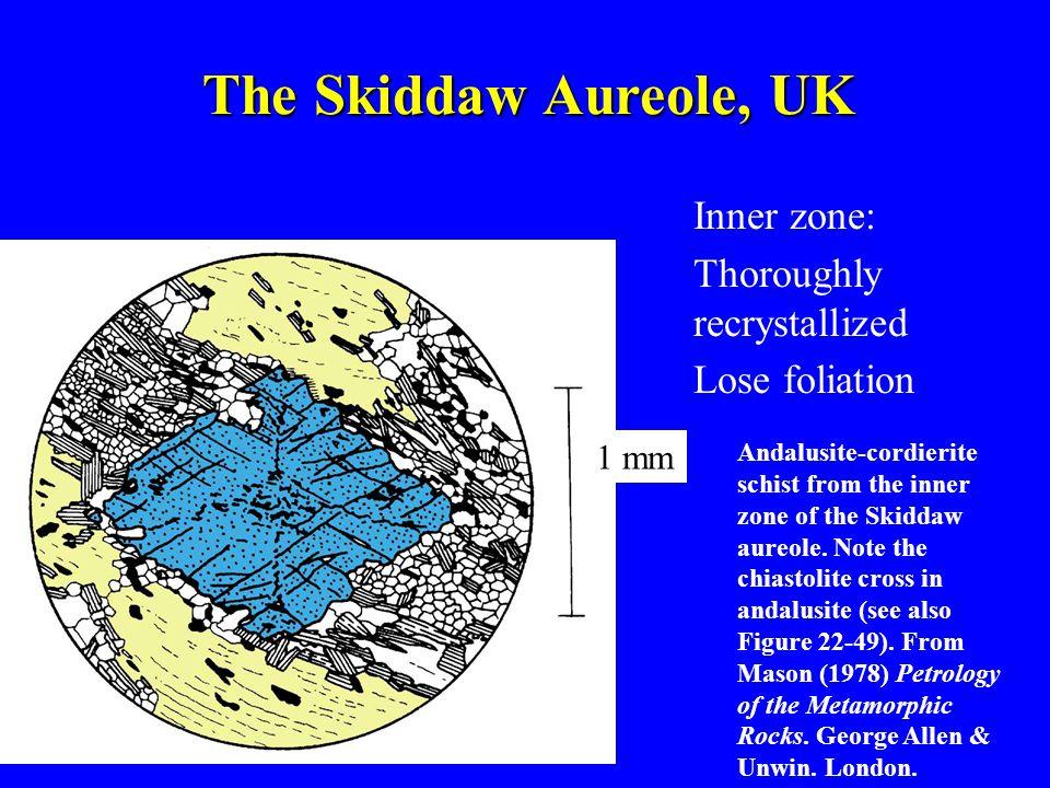 The Skiddaw Aureole, UK Inner zone: Thoroughly recrystallized Lose foliation Andalusite-cordierite schist from the inner zone of the Skiddaw aureole.