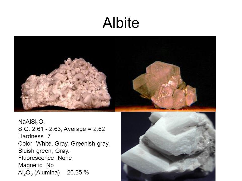 Albite NaAlSi 3 O 8 S.G.