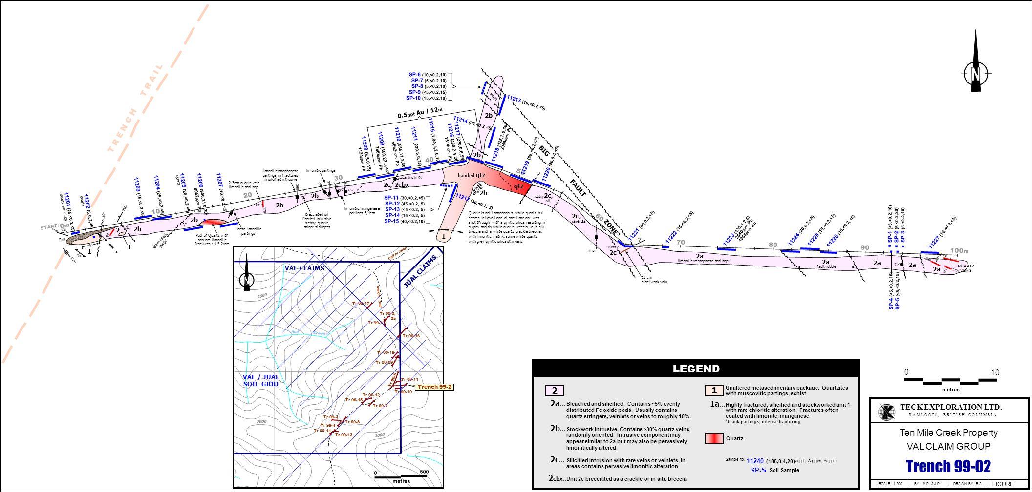 0 10 metres TECK EXPLORATION LTD.