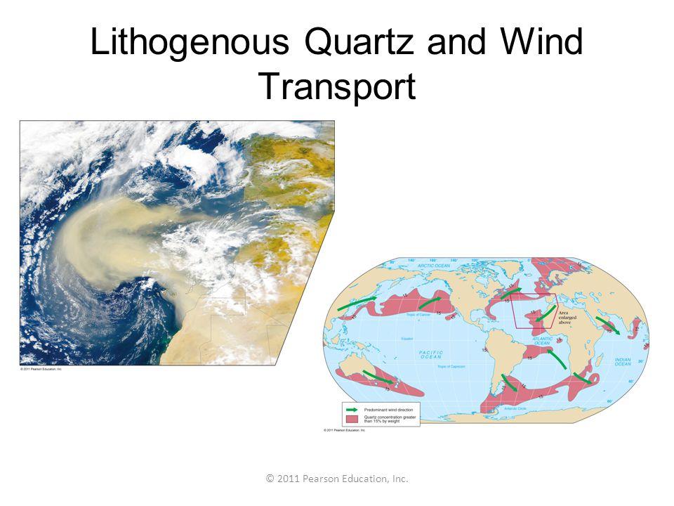 © 2011 Pearson Education, Inc. Lithogenous Quartz and Wind Transport