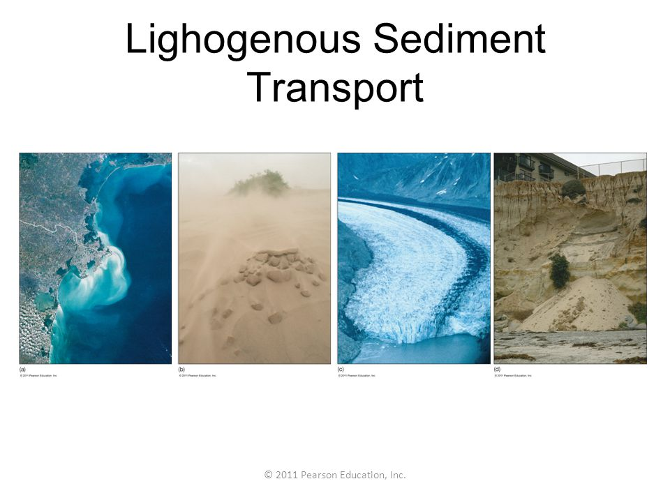 © 2011 Pearson Education, Inc. Lighogenous Sediment Transport
