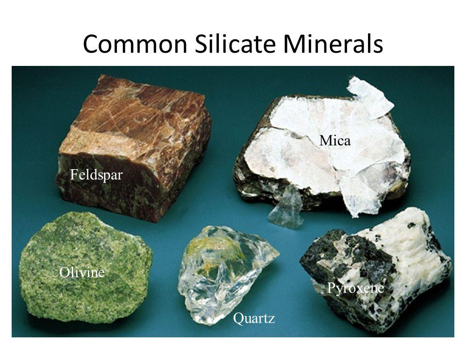Common Silicate Minerals Feldspar Mica Quartz Olivine Pyroxene