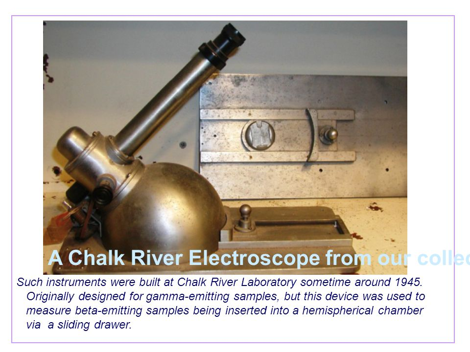 Such instruments were built at Chalk River Laboratory sometime around 1945. Originally designed for gamma-emitting samples, but this device was used t