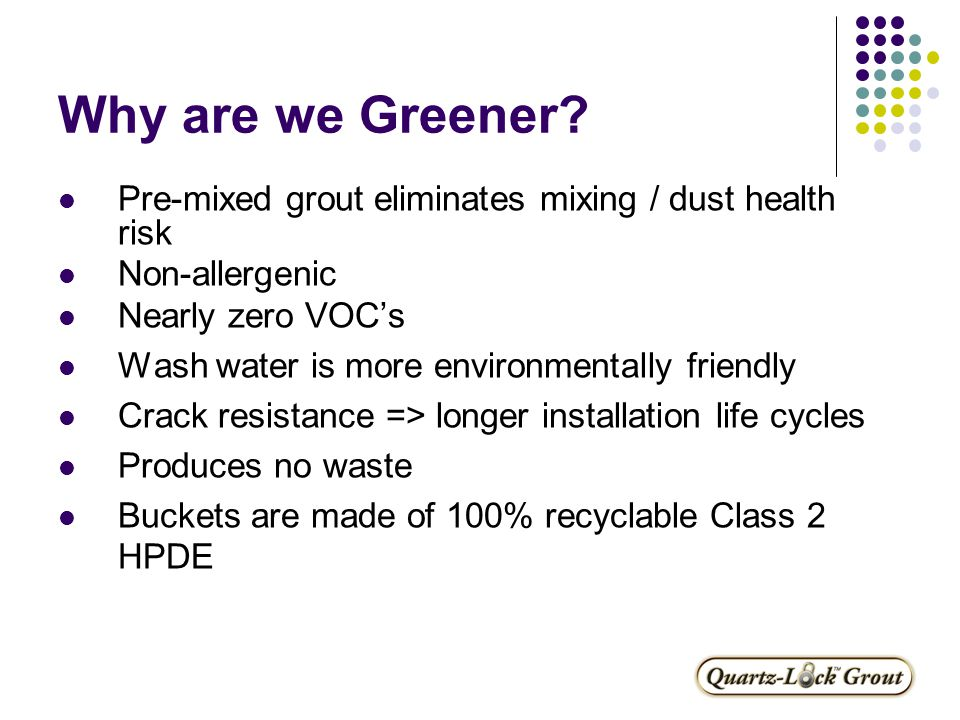 Why are we Greener.