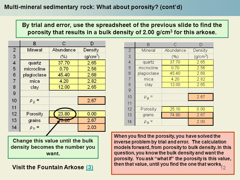 12 Multi-mineral sedimentary rock: What about porosity.