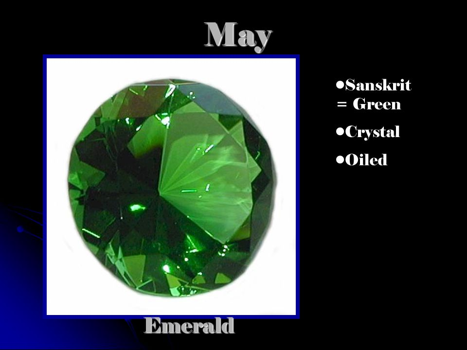 MayEmerald Sanskrit = Green Crystal Oiled