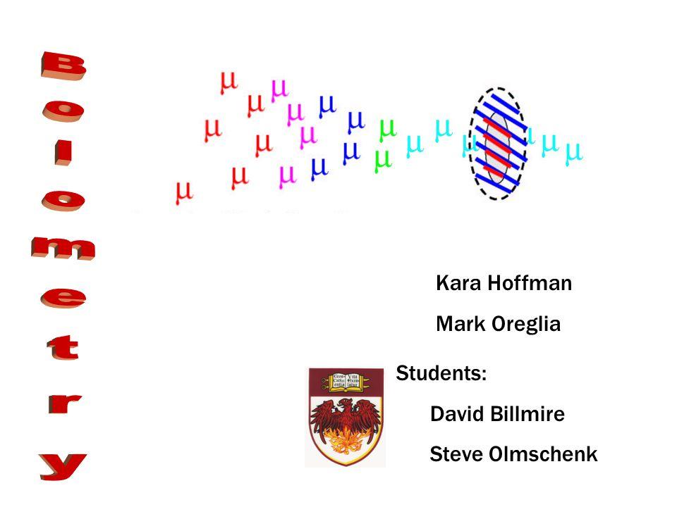 Kara Hoffman Mark Oreglia Students: David Billmire Steve Olmschenk