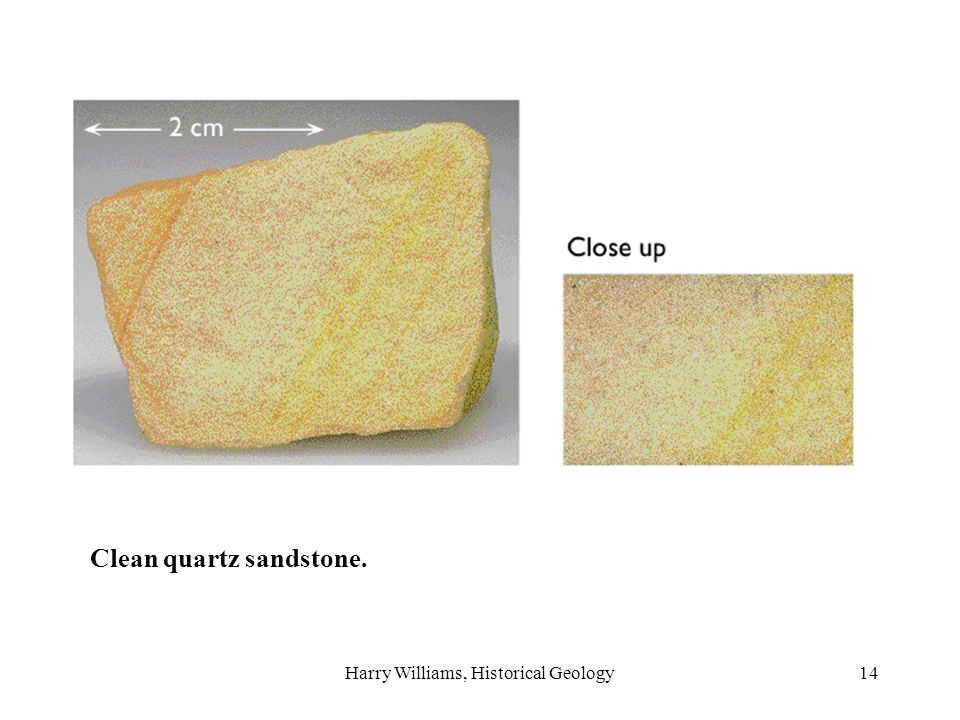 Harry Williams, Historical Geology14 Clean quartz sandstone.