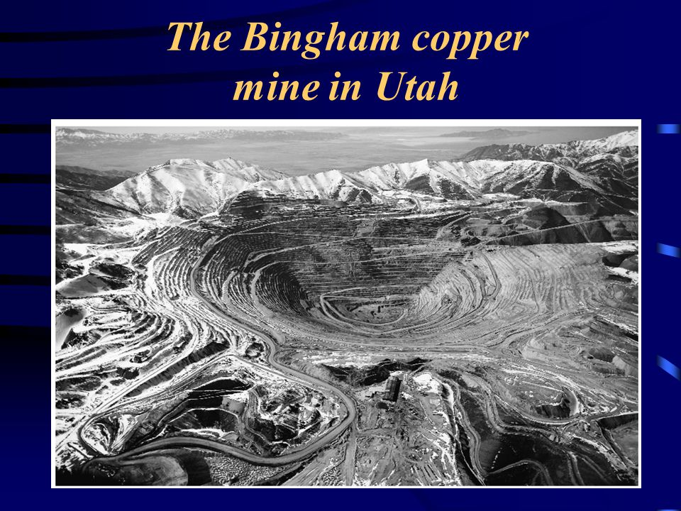 The Bingham copper mine in Utah