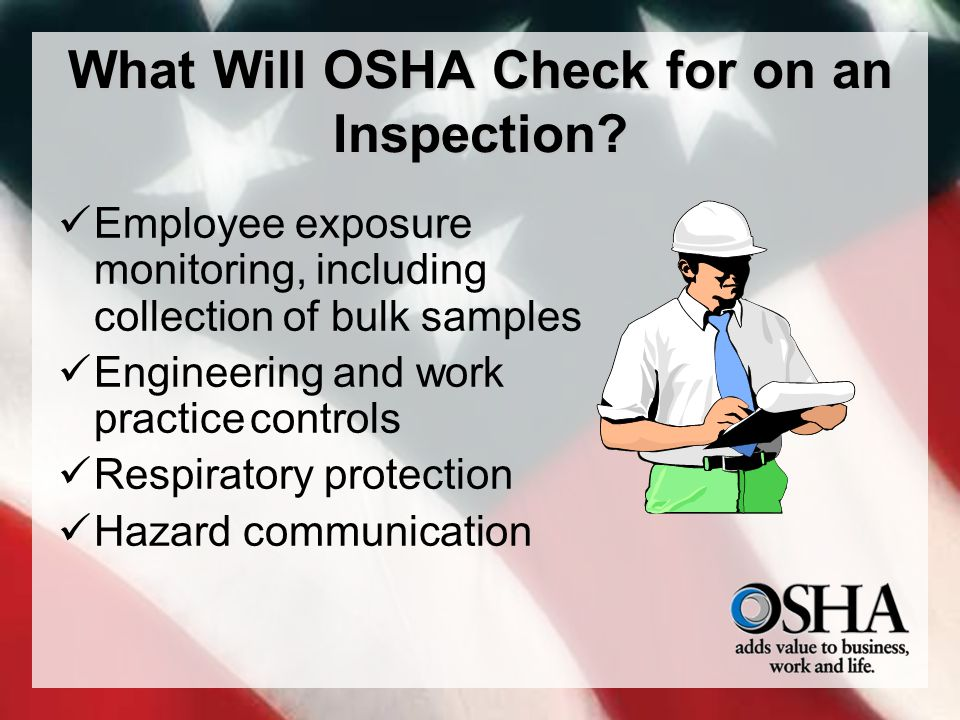 What Will OSHA Check for on an Inspection.